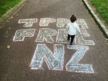 Raduno contro accordo commerciale di TPPA a Auckland Fotografia Stock Libera da Diritti