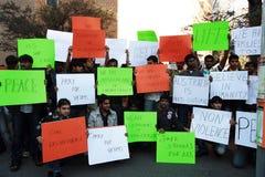 Raduno contro razzismo in Australia Fotografie Stock