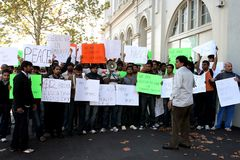 Raduno contro razzismo in Australia Fotografie Stock Libere da Diritti
