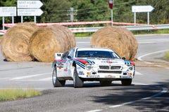 61 raduno Costa Brava. Campione di FIA European Historic Sporting Rally Fotografie Stock