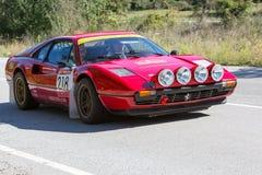 61 raduno Costa Brava. Campione di FIA European Historic Sporting Rally Fotografie Stock Libere da Diritti