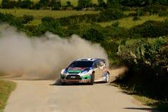 Raduno D'Italia Sardegna - HIRVONEN di WRC 2011 Fotografie Stock Libere da Diritti