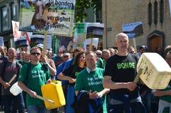 Raduno degli agricoltori a Oslo Fotografie Stock