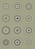 Raduno degli ornamenti rotondi di calligrafia Fotografie Stock Libere da Diritti