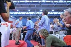 Raduno del Partito socialista operaio spagnolo (PSOE) immagine stock libera da diritti