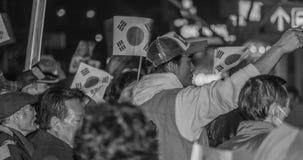 Raduno della gente a sostegno di presidente Park Pistola-Hye Fotografie Stock