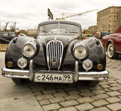 Raduno delle automobili classiche, Mosca, Jaguar Fotografie Stock