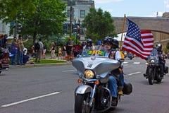 Raduno delle motociclette di fine settimana di Memorial Day Fotografia Stock