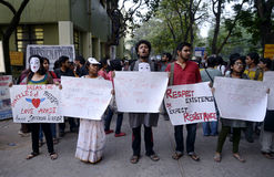 Raduno di Azadi di amore a Calcutta Fotografia Stock Libera da Diritti