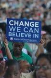 Raduno di Barack Obama al padiglione dei Nissan Fotografia Stock Libera da Diritti