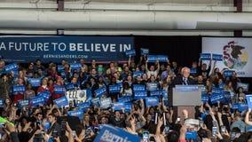 Raduno di Bernie Sanders in Illinois immagini stock