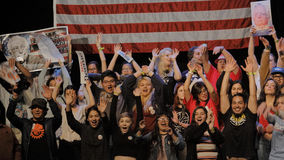 Raduno di campagna di Bernie Sanders Holds Los Angeles del candidato alla presidenza Fotografie Stock Libere da Diritti