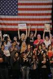 Raduno di campagna di Bernie Sanders Holds Los Angeles del candidato alla presidenza Immagini Stock Libere da Diritti