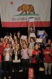 Raduno di campagna di Bernie Sanders Holds Los Angeles del candidato alla presidenza Immagine Stock
