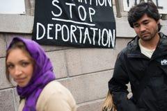Raduno di diritti del rifugiato Fotografie Stock