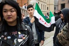 Raduno di diritti del rifugiato Immagini Stock Libere da Diritti