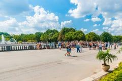Raduno di divertimenti di Harry Potter nel parco di Mosca Gorkij Immagini Stock