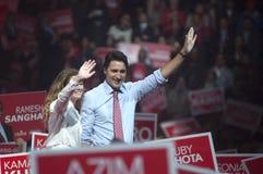 Raduno di elezione di Justin Trudeau fotografia stock libera da diritti