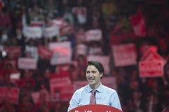 Raduno di elezione di Justin Trudeau fotografia stock