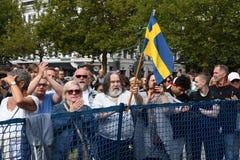RADUNO DI JIMMIE AAKESSON_SWEDEN DEMOCRATICI ELECTIO fotografia stock libera da diritti