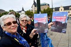 RADUNO DI JIMMIE AAKESSON_SWEDEN DEMOCRATICI ELECTIO fotografie stock libere da diritti
