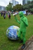 Raduno di migliaia per azione su mutamento climatico Fotografie Stock Libere da Diritti