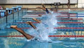 Raduno di nuotata immagini stock