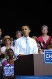 Raduno di Obamaâs al raduno del padiglione dei Nissan Fotografie Stock