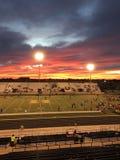 Raduno di pista di tramonto fotografia stock