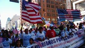 Raduno di riforma di immigrazione stock footage