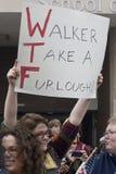 Raduno di Unione-Parti di destra diUW-Milwaukee Fotografia Stock