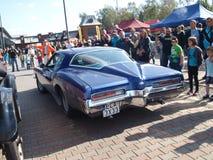 Raduno di vecchie automobili Fotografia Stock