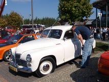 Raduno di vecchie automobili Fotografia Stock Libera da Diritti