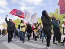 Raduno internazionale di giorno dei lavoratori a Stoccolma Immagine Stock Libera da Diritti