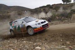 RADUNO MESSICO 2005 DELLA CORONA DI WRC fotografia stock