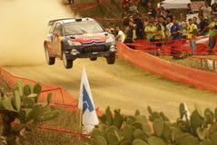 Raduno Messico della corona di WRC Sébastien 2010 OGIER Fotografia Stock Libera da Diritti