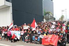 Raduno per giustizia per Erwiana in Hong Kong Fotografie Stock