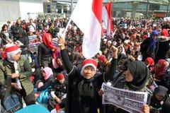 Raduno per giustizia per Erwiana in Hong Kong Immagine Stock Libera da Diritti