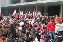Raduno per giustizia per Erwiana in Hong Kong Fotografie Stock Libere da Diritti