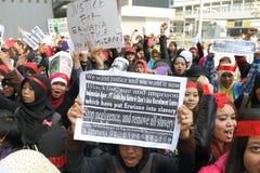Raduno per giustizia per Erwiana in Hong Kong Fotografia Stock