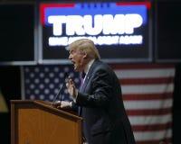 Raduno repubblicano di campagna di Donald Trump del candidato alla presidenza all'arena & al casinò del sud del punto a Las Vegas immagine stock libera da diritti