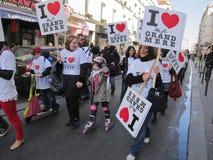 Raduno a sostegno delle nonne Immagine Stock