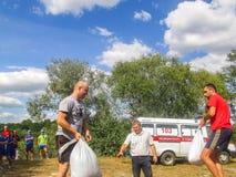 Raduno turistico nella regione di Homiel'di Bielorussia Fotografia Stock