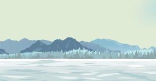 Radura della neve royalty illustrazione gratis