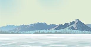 Radura della neve illustrazione di stock