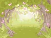 Radura in foresta magica illustrazione di stock