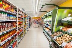 RADVILISKIS,立陶宛- 2016年11月22日:最大值商店在立陶宛 其中一家最普遍的商店在立陶宛烙记 库存照片