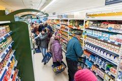 RADVILISKIS,立陶宛- 2016年11月22日:最大值商店在立陶宛 其中一家最普遍的商店在立陶宛烙记 o 库存照片