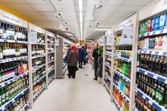 RADVILISKIS,立陶宛- 2016年11月22日:最大值商店在立陶宛 其中一家最普遍的商店在立陶宛烙记 o 免版税库存照片