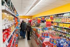 RADVILISKIS,立陶宛- 2016年11月22日:最大值商店在立陶宛 其中一家最普遍的商店在立陶宛烙记 o 图库摄影